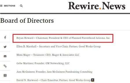Image: Planned Parenthood CEO on board of Rewire News (Image credit: screen grab from Rewire News blog)