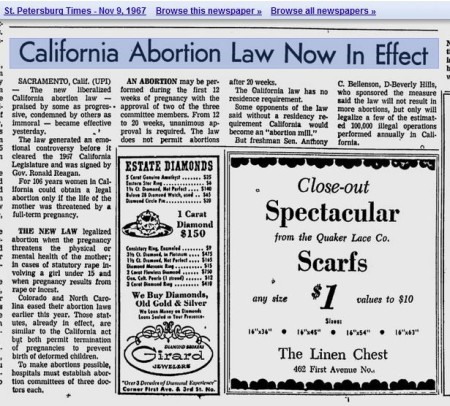 Image: 1967 California liberalizes abortion laws