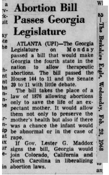 Image: 1968 Georgia legalizes abortion