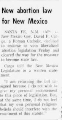 Image: 1969 New Mexico liberalizes abortion