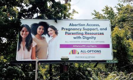 Image: All Options billboard (Image: Facebook)