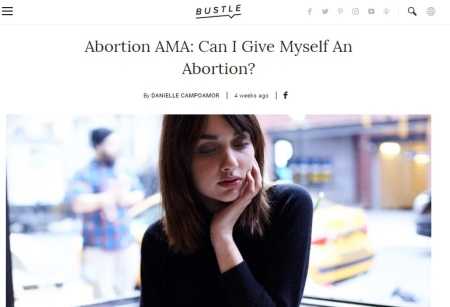 Image: Bustle promotes self abortions