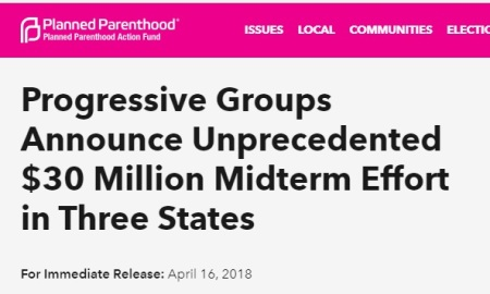 Image: Planned Parenthood and Progressive groups to spend $30 million in 2018 elections