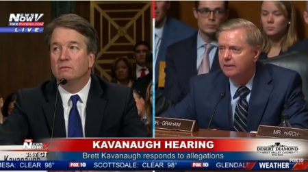Image: Sen Lindsey Graham stands up for Brett Kavanaugh
