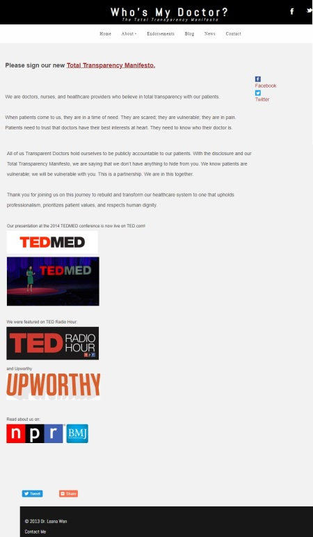 Image: Planned Parenthood President, Leana Wen, transparency? WhoseMyDoctor Manifesto
