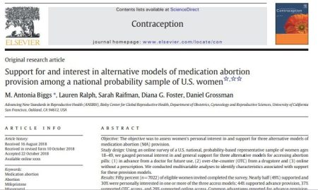 Image: Journal Contraception 2018 study on self managed abortion