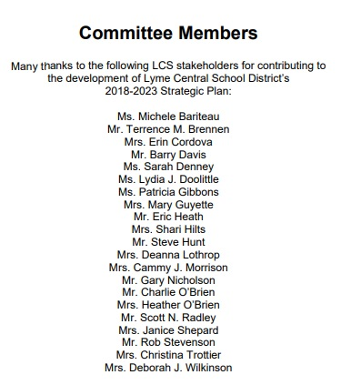 Image: Lyme Central School District committee issues strategic plan to take students to Planned Parenthood (Image: 2018-2023 Strategic Plan)