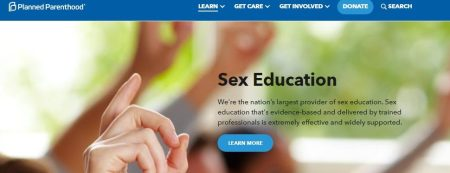 Image: Planned Parenthood claims to be largest provider of Sex Education in nation (Image: PPFA website capture date: 11/15/2018)
