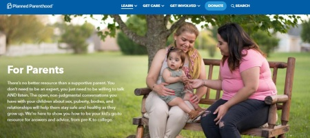 Image: Planned Parenthood for Parents website (Image: PPFA)