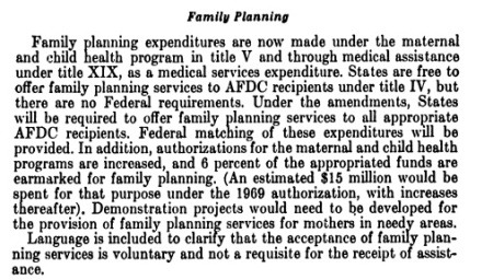 Image: 1967 Child Health Program funds Family Planning