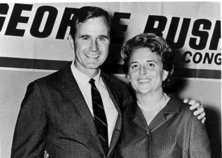 Image: George and Barbara Bush 1966