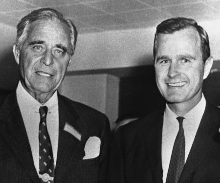 Image: Prescott Bush with his son, George Bush (Image Credit: George Bush Presidential Library and Museum)