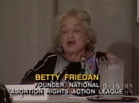 Image: Betty Friedan speaks to NARAL history of NOW