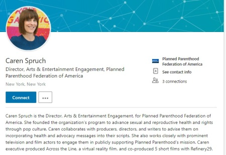 Image: Caren Spruch planned parenthood director arts and entertainment (Image: LinkedIn )