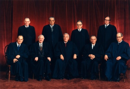 Image: Supreme Court at time Roe v Wade legalized abortion (Image credit: Oyez)