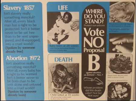 Image: Voice of the Unborn advertisement 1972 Michigan