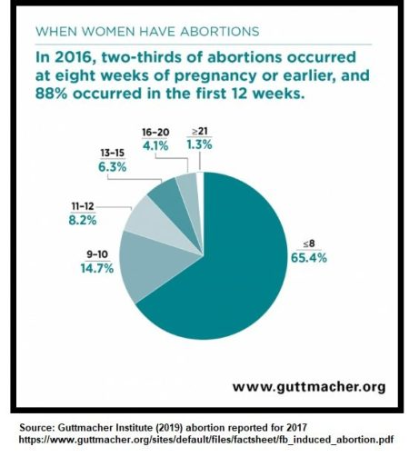 Guttmacher 2016 abortion by trimester (Graph: Guttmacher Institute)