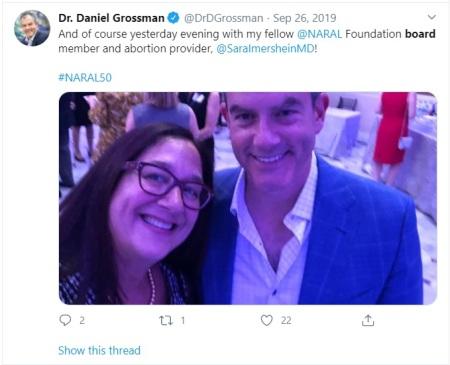 Daniel Grossman NARAL board 2019