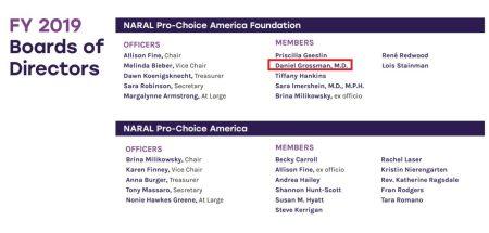 Abortionist Daniel Grossman former NARAL Board member